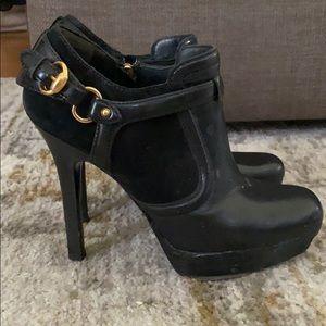 Gucci stiletto platform bootie black size 6.5